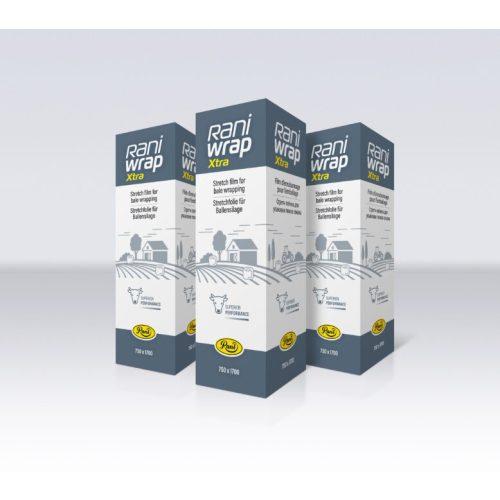 750mmx0,022x1.700m RaniWrap Extra fehér bálacsomagoló fólia