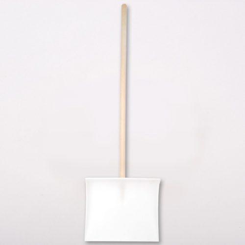Hólapát műanyag élvédős fehér 40 cm + nyél